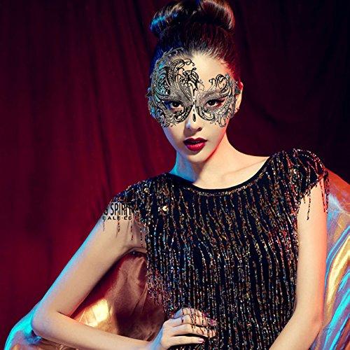 XingYu-XY Metall Schwarz venezianischen Maskerade-Maske Sexy Laser-Cut. Augenmaske Gesichtsmaske Maske Venezianisch Sexy Spitze Karneval (20*7*2.5cm, (Laser Masken Cut)