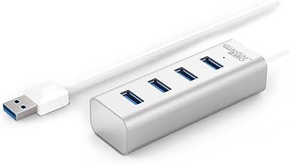 QuantumZERO 4 Ports USB 3.0 Hub,1.3 ft Cable, Aluminum Body