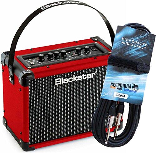Blackstar ID Core 10 RED EDITION Combo Gitarren-Verstärker + KEEPDRUM Gitarrenkabel GC-004 6m GRATIS!
