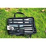 Gracelaza Utensilios barbacoa Juego de utensilios para barbacoa de acero inoxidable kit 5 piezas