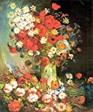 The Museum Outlet–Vaso con Fiordalisi e papaveri, peonie e crisantemi di Van Gogh–Tela (61x 81,3cm)