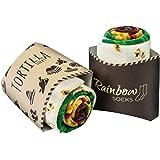 Rainbow Socks - Femme Homme Chaussettes Fantaisie Tortilla Wrap - 2 paires