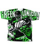 Green Lantern Hal Jordan Graffiti DC Comics Superhero Comic Book Adult Tee - S