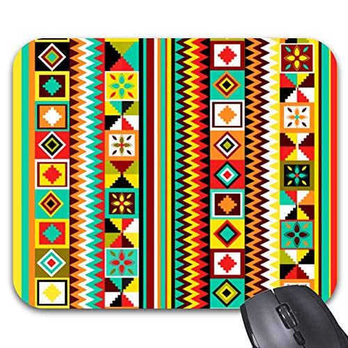 Kente Design (African Design Kente Cloth Tribal Pattern Summer Mouse Pad Stylish Office Computer Accessory 9.86 x 7.86)