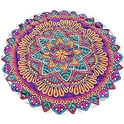 Toalla de Playa Redonda Cebbay Mandala Tapestry,Indian Hippie Hanging Toalla,Wall Tapiz for Colcha del Lecho del Tiro