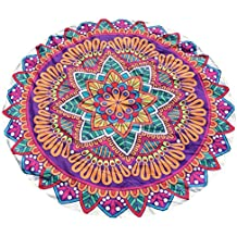 Toalla de Playa Redonda Cebbay Mandala Tapestry,Indian Hippie Hanging Toalla,Wall Tapiz for