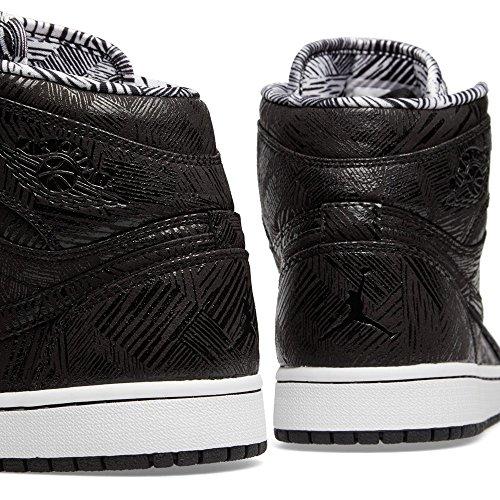 Nike Air Jordan 1 Retro High Bhm, Chaussures de Sport Homme Noir / Blanc (Noir / Blanc)