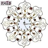 Moderno Y Minimalista De Estilo Europeo Relojes De Pared Del Salón Decoraciones De Pared Estéreo Cuando Se Forja Relojes Colgante