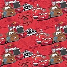 Cars tela–0,5m–Red de Disney Cars & la pandilla–cam123–100% algodón CAM123 Red Cars