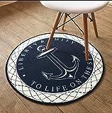 sheng Round Carpet Anchor amerikanischen Garderobe Wohnzimmer Schlafzimmer Drehstuhl Computer Stuhl Matratze trocken sauber ( größe : 120cm )