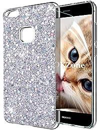 Coque Huawei P10 Lite  avec Film de Protection écran HD ,OKZone® Mince Étui  en silicone souple Paillette Strass Brillante Bling Bling Glitter de… 56a277115ed