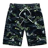Herren Boardshorts Boardshorts Sommerhosen Strandshorts Hawaii Urlaub Shorts Männer Kurze Hosen (Gelb, L)