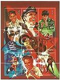 Elvis Presley Miniaturtempel Blatt für Sammler - Elvis als junger Mann - Filme - Mongolei / 1995 / Block / 9 Briefmarken / MNH