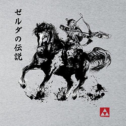 The Legend Of Zelda Wild Hunter Sumie Men's Vest Heather Grey