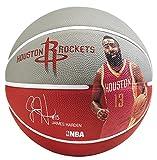 Spalding Ball NBA Player James Harden 83-347Z, grau/rot, 7, 3001586011217