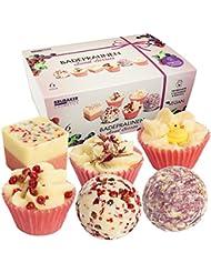 BRUBAKER Cosmetics Boules de bain - 6 Pièces - Coffret cadeau 'Sweet Berries' - Vegan