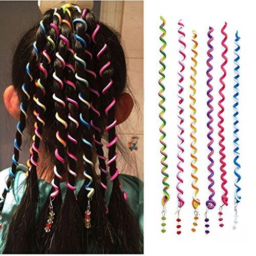 Chinget Damen Mädchen Bunte Haar Torsion Haarschmuck mit Strass Haar Accessoires 6 Stück - Mischfarbe (Kinder Haar Accessoires)