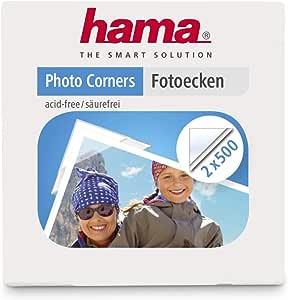 HAMA Angolini Autoadesivi per foto, 1000 pezzi ( 2 Confezioni da 500 Pezzi )