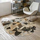 SESO UK- Norbic Geometric weichen Teppich, rutschfeste Runde Teppich für Schlafzimmer Wohnzimmer ( Farbe : #1 , größe : 100cm )