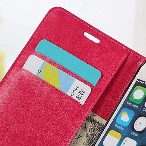 iPhone Case Cover Normallackmuster-Mappenartkasten magnetisches entwerfen Flipfolio PU-Lederabdeckung Standup-Abdeckungsfall für iPhone 6S 6 4.7 Zoll ( Color : Black , Size : IPhone 6 6S ) White