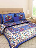 #8: bedsheet jaipuri cotton king size With Two Pillow Covers By Braj Creation