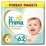 Prima Bebek Bezi Premium Care 6 Beden Ekstra Large Fırsat Paketi 62 Adet