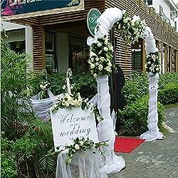48 cm * 10 m Sheer Cristal Organza Rouleau de tulle Tissu pour la décoration de fête de mariage