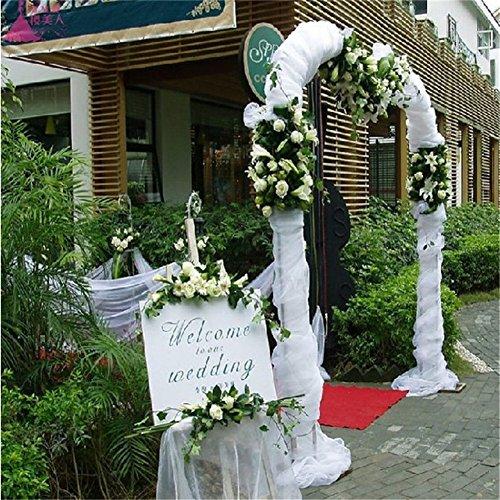 48cm * 10m Sheer Organza de cristal de tul rollo de tela para boda fiesta decoración o año nuevo decoración navideña DIY tela de organza boda mesa fiesta Decor escalera Bow cama mesa falda