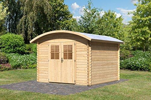 Karibu Gartenhaus Tonnendachhaus 3 Blockbohle 28mm