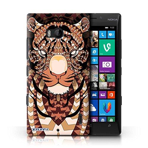 Kobalt® Imprimé Etui / Coque pour Nokia Lumia 930 / Hibou-Mono conception / Série Motif Animaux Aztec Tigre-Orange