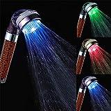 LED Handbrause Duschkopf Farbwechsel Wassertemperatur Induktion Led Duschkopf Mit 3 Farbwechsel Massage Spa Duschkopf Mit Filter Balls/Keine Batterie Erforderlich