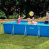 Intex Aufstellpool Frame Pool Set Family, blau, 450 x 220 x 84 cm -
