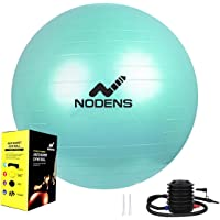 Nodens Gym Ball, Anti-Burst Gym Ball (55 cm / 65cm / 75 cm /85 cm / 95 cm) with Foot Pump, Balance Ball for Pilates, Yoga, Birthing, Stability Gym Workout Training and Physical Therapy