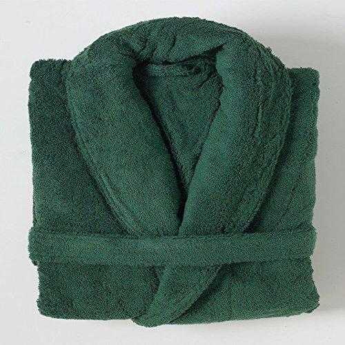Linens Limited Bademantel - Ägyptische Baumwolle - Grün - Größe L (Luxuriöse Ägyptische Baumwolle-bad)