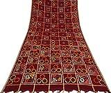 Vintage Cotton Silk Geometrisch bedruckt Saree Indian Craft