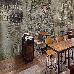 Retro Vintage Cement Wall Graffiti Mural KTV Bar Ristorante Internet Bar Sfondo Wallpaper Seamless Industrial Wind Wallpaper