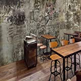 Retro Vintage Cement Wall Graffiti Mural KTV Bar Ristorante Internet Bar Sfondo Wallpaper Seamless Industrial Wind Wallpaper