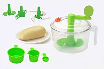 Slings One Stop Shop Atta Dough Maker With Beater, Chop & Churn 3In1, Green