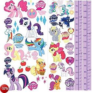 My Little Pony–Adesivi da parete 3D camera da letto ragazzi ragazze grandi bambini S2AM