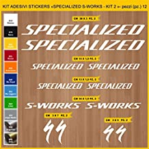 Kit Pegatinas Stickers Bicicleta Specialized S-Works - Kit 2-12 Piezas- Bike