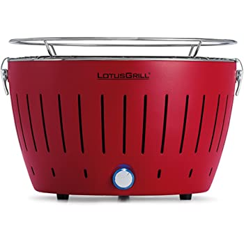 LotusGrill Holzkohlengrill Serie 340, Farbe feuerrot, 35 x 26 x 23.4