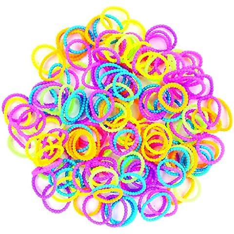 Darice 150 pulseras con lentejuelas Plus 6 s-clips, diseño de guijarros