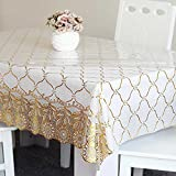 DSAAA Sencillez moderna mantel de PVC transparente de vidrio y suaves sábanas de tela de tapa mesa,girasol 90*140cm