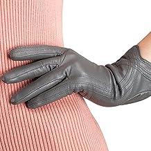 Damen Leder Handschuhe Winter Auto Handschuhe Lederhandschuhe