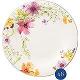 Villeroy & Boch Mariefleur Basic 27cm (10–4100–2620), Premium Porcelaine, 6x Assiette, blanc, 27cm, 6unités de