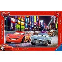 Cars Ravensburger 06006 2 - Puzzle con diseño de Rayo McQueen y Finn McMissile (15 piezas)