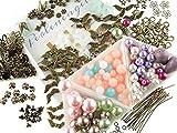 Vintageparts DIY - Set für 30 Perlenengel Schutzengel in bronzefarben für Hochzeit Konfirmation Geburtstag oder Taufe Schmuck selber basteln