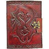 Zap Impex ® Handgefertigte Leder Journal Tagebuch mit Schloss Notebook