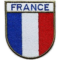 ecusson france francais drapeau opex tap soldat 8x7cm legion thermocollant
