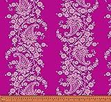 Soimoi Blumen Paisley Printed 2 - Way Stretch Samt